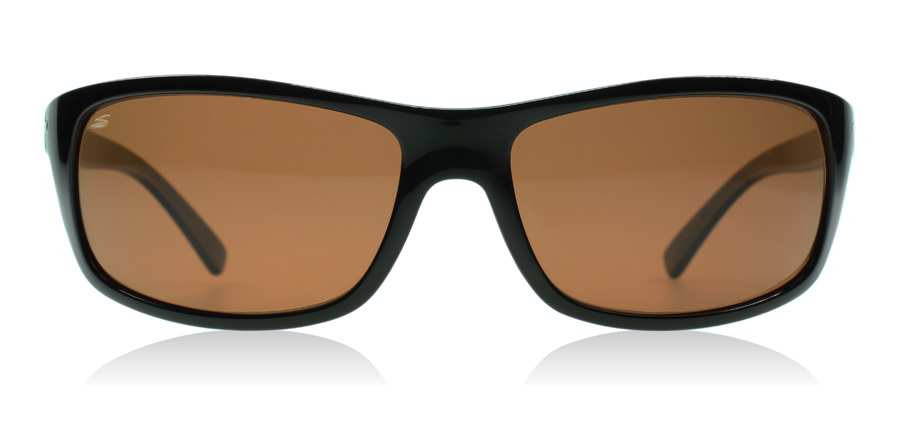 Serengeti Bormio Shiny Black / Tortoise 65mm Polarised