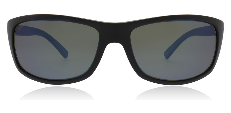 Serengeti Bormio 8165 Satin Black 60mm Polarised