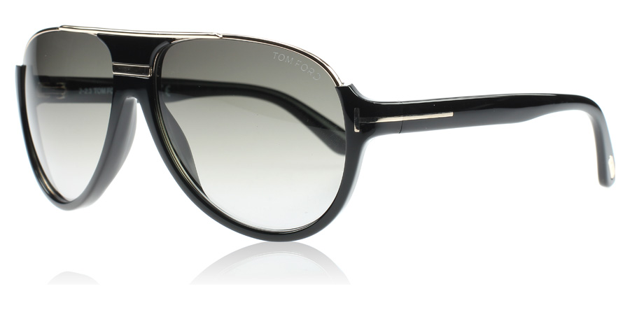Tom Ford Dimitry Sunglasses Black and Gold 01P