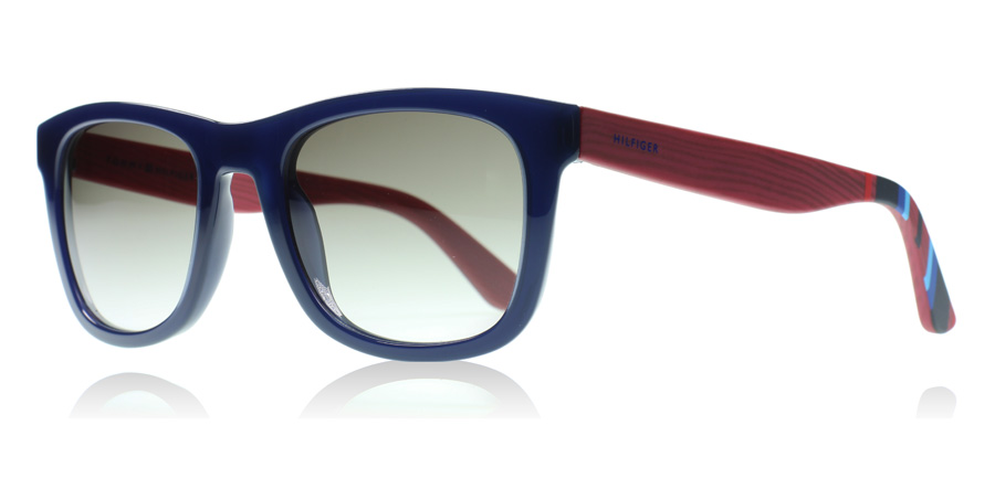 tommy hilfiger 1313s sunglasses 1313s blue red wood. Black Bedroom Furniture Sets. Home Design Ideas