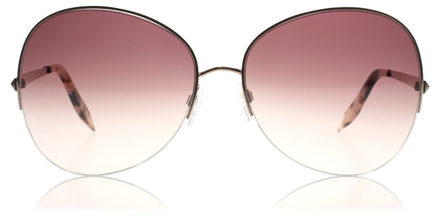 Rimless Butterfly Glasses : Victoria Beckham Semi Rimless Butterfly Sunglasses : Semi ...