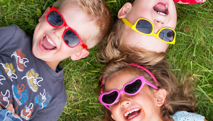 Savannah Kids Designer Sunglasses: £15, multiformo.tk These frames have a slight rubberised feel to them, helping them stay on active kids' faces, and come in pink, blue or orange.