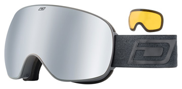 Dirty Dog Mutant 2.0 Matte Grey / Silver Mirror / Yellow