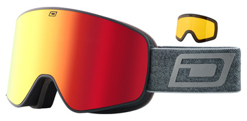 Dirty Dog Mutant Legacy 0.5 Matte Black / Red Mirror / Yellow