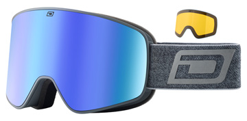 Dirty Dog Mutant Legacy 0.5 Matte Grey / Blue Mirror / Yellow