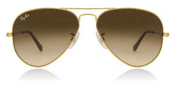 Ray-Ban Aviator Shiny Light Bronze