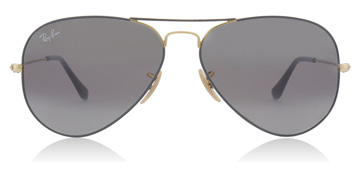 Ray-Ban Aviator Gold / Matte Grey