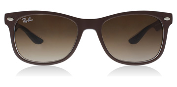 Ray-Ban Junior RJ9052S Age 12-15 Years Matte Brown On Blue
