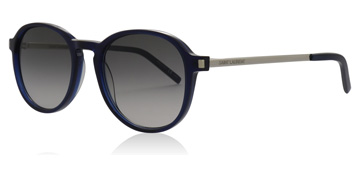 Saint Laurent SL110 Shiny Transparent Blue