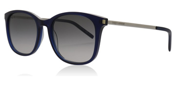 Saint Laurent SL111 Shiny Transparent Blue