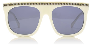 Stella McCartney SC0043S White / Dark Ruthenium