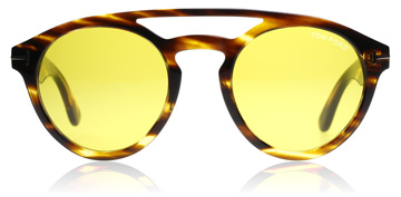Tom Ford Clint Shiny Striped Brown