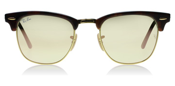 Ray-Ban Clubmaster Shiny Red / Havana