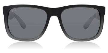Ray-Ban Justin Rubber Grey to Grey Transparent