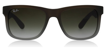 Ray-Ban Justin Rubber Brown on Grey