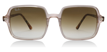 Ray-Ban Square Ii Transparent Light Brown