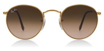 Ray-Ban Round Metal Shiny Light Bronze