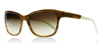 Emporio Armani 4004 Striped Brown and Cream 504713