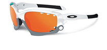 Oakley Racing Jacket Vented Polished White Fire Iridium OO9171-24