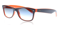Ray-Ban 2132 Wayfarer Top Blue Orange 789/3F Large (55mm)