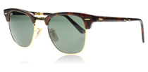 Ray-Ban 2176 Clubmaster Folding Tortoise 990