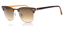 Ray-Ban 3016 Clubmaster Top Dark Havana on Orange 112685