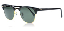 Ray-Ban 3016 Clubmaster Black W0365 Small 49mm