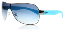 Ray-Ban 3471 Gunmetal and Blue 004/4L