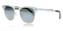 Ray-Ban 3507 Clubmaster Aluminum Brushed Silver 137/40 49