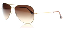 Ray-Ban 3513 Aviator Flat Metal Gold 149/13