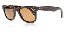 Ray-Ban 2140 Wayfarer Dark Tortoiseshell 902/57 Polarised Medium 50mm