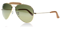 Ray-Ban Outdoorsman Outdoorsman Craft Collection Shiny Gold 001/M9 Polarised 58mm