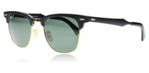 Ray-Ban 3507 Clubmaster Aluminum Black and Gold 136/N5 Polarised