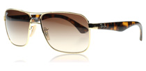 Ray-Ban 3516 Gold and Tortoise 001/13