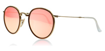 Ray-Ban 3517 Round Folding Classic Gold and Brown 001/Z2
