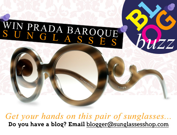 sunglasses shop bloggers buzz win Prada Baroque 27NS designer sunglasses competition