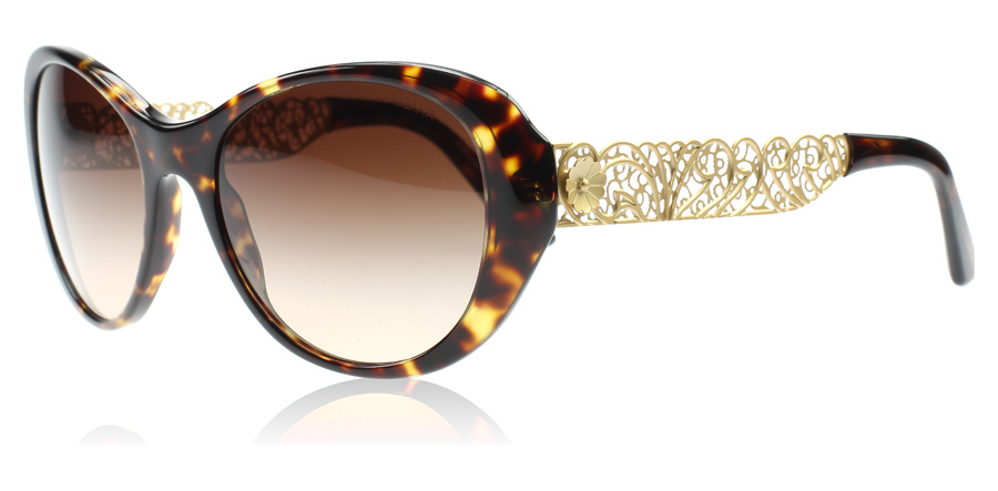 Dolce And Gabbana Gold Frame Sunglasses : Dolce and Gabbana 4213 Sunglasses : 4213 Tortoise and Gold ...