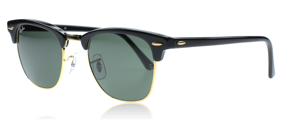 ray ban classic clubmaster black  Ray-Ban 3016 Clubmaster Sunglasses : 3016 Clubmaster Black 3016 ...