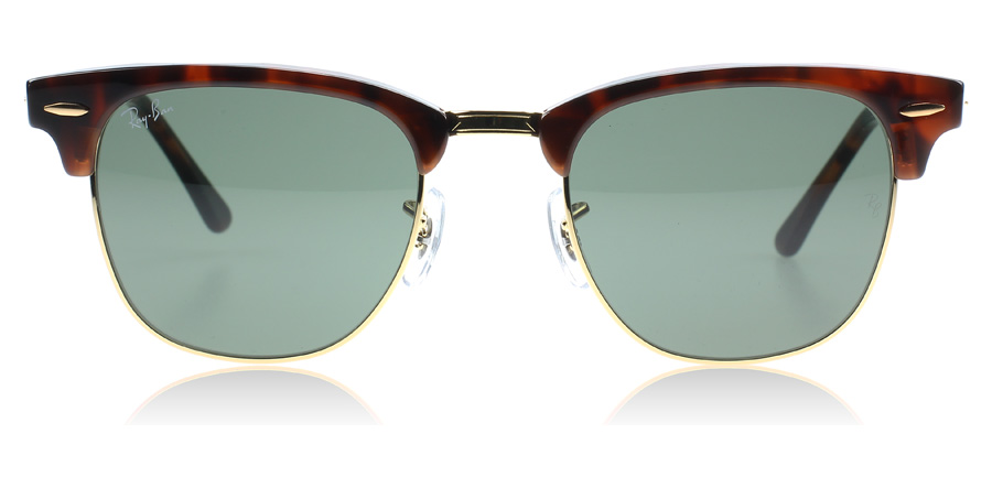 ray ban 3016 polarized (clubmaster) sunglasses  ray ban 3016 clubmaster tortoise w0366 small 49mm