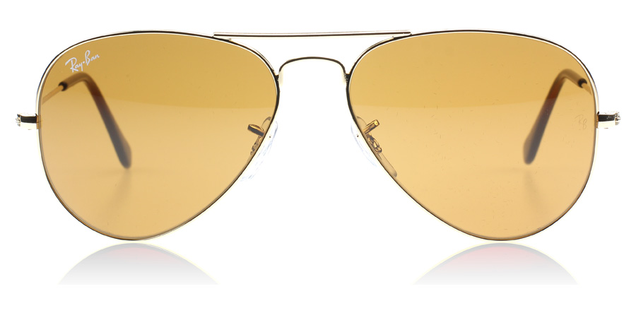 ray ban aviator large braun