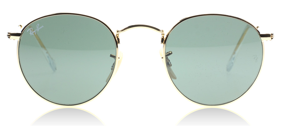 gold ray bans  Ray-Ban 3447 Round Metal Sunglasses : 3447 Round Metal Gold 3447 ...