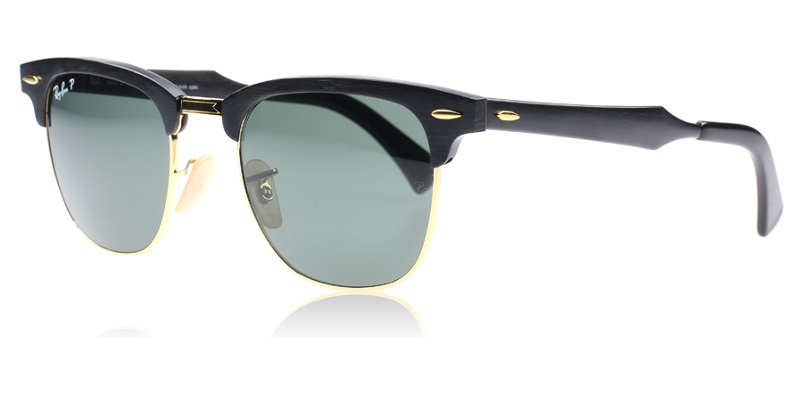 black clubmaster ray bans  Ray-Ban 3507 Clubmaster Aluminum Sunglasses : 3507 Clubmaster ...