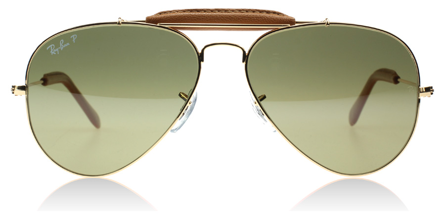 ray ban 3422q sunglasses  ray ban outdoorsman 3422q craft collection shiny gold 001/m9 58mm polarised