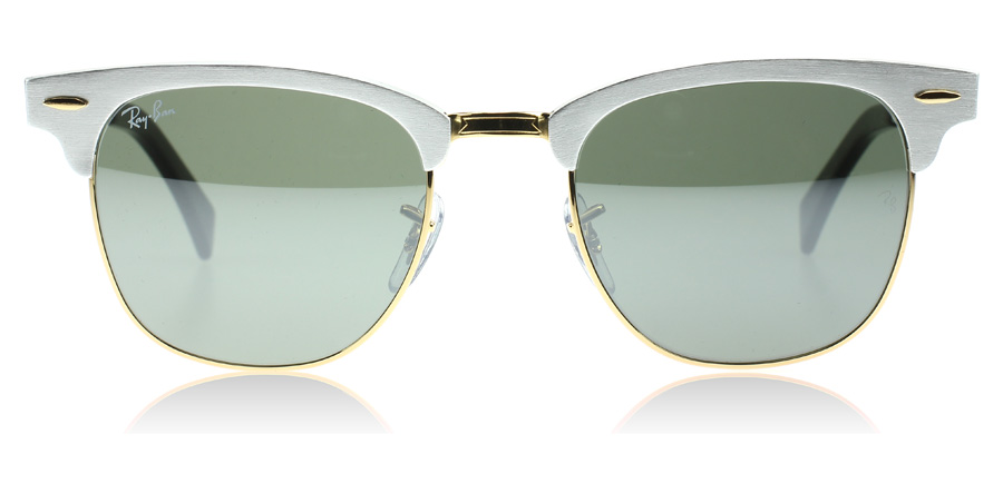 ray ban gold clubmaster  Ray-Ban 3507 Clubmaster Aluminum Sunglasses : 3507 Clubmaster ...