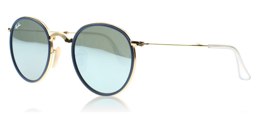 ray ban round folding classic sunglasses  ray ban 3517 round folding classic gold 001/30. price: $ 113