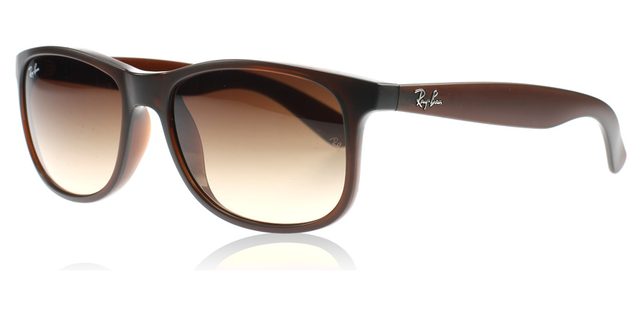 Ray-Ban 4202 Andy Sonnenbrille Braun 6073/13 55mm OJPWrbxKRm