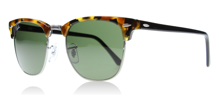 havana clubmaster  Ray-Ban 3016 Clubmaster Sunglasses : 3016 Clubmaster Spotted Black ...