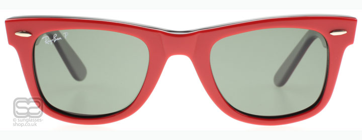 ray ban wayfarer red black. Ray-Ban 2140 Wayfarer Top Red