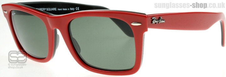 ray ban wayfarer red black. Ray-Ban 2151 Square Wayfarer
