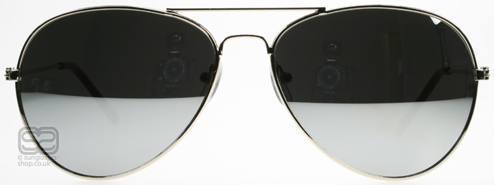 Mirrored Aviator Sunglasses  4167silver jpg